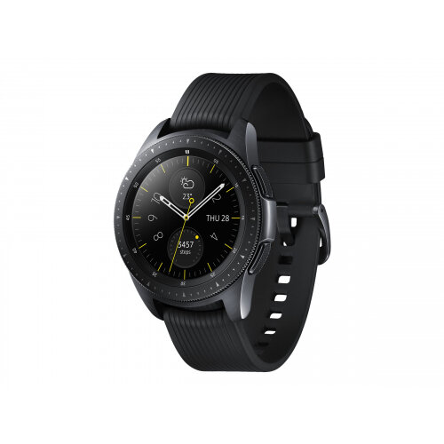 Samsung Galaxy Watch - 42 mm - midnight black - smart watch with band - silicone - display 1.2&uot; - 4 GB - Wi-Fi, NFC, Bluetooth - 49 g