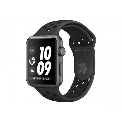 Apple Watch Nike+ Series 3 (GPS) - 38 mm - space grey aluminium - smart watch with Nike sport band - fluoroelastomer - anthracite/black - band size 130-200 mm - 8 GB - Wi-Fi, Bluetooth - 26.7 g