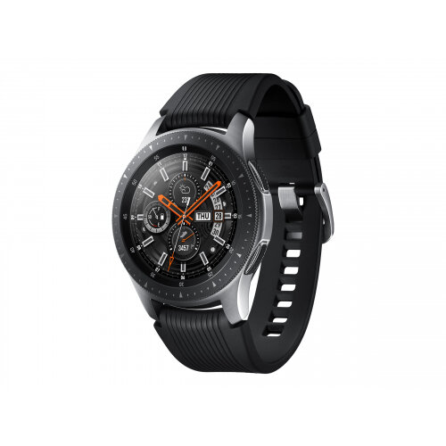 Samsung Galaxy Watch - 46 mm - silver - smart watch with band - silicone - display 1.3&uot; - 4 GB - Wi-Fi, NFC, Bluetooth - 63 g