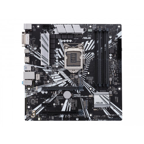 ASUS PRIME Z370M-PLUS II - Motherboard - micro ATX - LGA1151 Socket - Z370 - USB 3.1 Gen 1, USB-C Gen1 - Gigabit LAN - onboard graphics (CPU required) - HD Audio (8-channel)