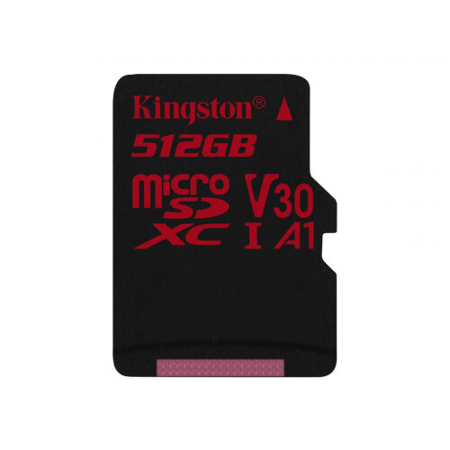 Kingston Canvas React - Flash memory card - 512 GB - A1 / Video Class V30 / UHS-I U3 / Class10 - microSDXC UHS-I