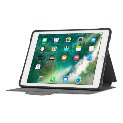 Targus Click-In Case - Flip cover for tablet - polyurethane - silver - 9.7&uot; - for Apple 9.7-inch iPad (5th generation, 6th generation); 9.7-inch iPad Pro; iPad Air; iPad Air 2