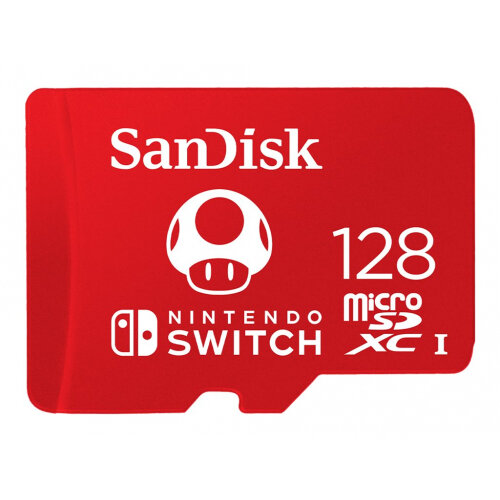 SanDisk - Flash memory card - 128 GB - UHS-I U3 - microSDXC UHS-I - for Nintendo Switch