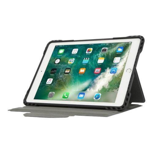 Targus Pro-Tek Rotating - Flip cover for tablet - rugged - polyurethane - black - 9.7&uot; - for Apple 9.7-inch iPad (5th generation, 6th generation); 9.7-inch iPad Pro; iPad Air; iPad Air 2
