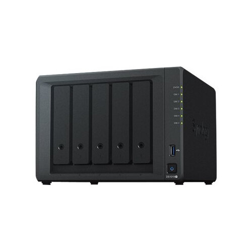 Synology Disk Station DS1019+ - NAS server - 5 bays - SATA 6Gb/s - RAID 0, 1, 5, 6, 10, JBOD - RAM 8 GB - Gigabit Ethernet - iSCSI