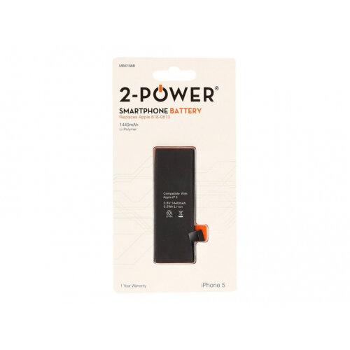 2-Power - Battery - Li-pol - 1440 mAh - for Apple iPhone 5