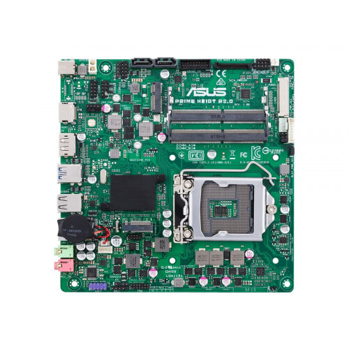 ASUS PRIME H310T R2.0 - Motherboard - Thin mini ITX - LGA1151 Socket - H310 - USB 3.1 Gen 1 - Gigabit LAN - onboard graphics (CPU required) - HD Audio (8-channel)