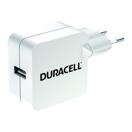 Duracell - Power adapter - 2.4 A (USB) - white - Europe