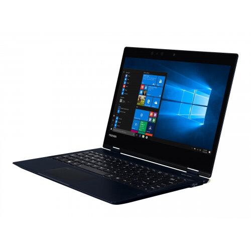 Dynabook Toshiba Port´g´ X20W-E-13U - Flip design - Core i7 8550U / 1.8 GHz - Win 10 Pro 64-bit - 16 GB RAM - 512 GB SSD - 12.5&uot; touchscreen 1920 x 1080 (Full HD) - UHD Graphics 620 - Wi-Fi, Bluetooth - 4G - tile matte black (keyboard),