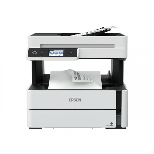 Epson EcoTank ET-M3170 - Multifunction printer - B/W - ink-jet - A4/Legal (media) - up to 39 ppm (printing) - 250 sheets - 33.6 Kbps - USB, LAN