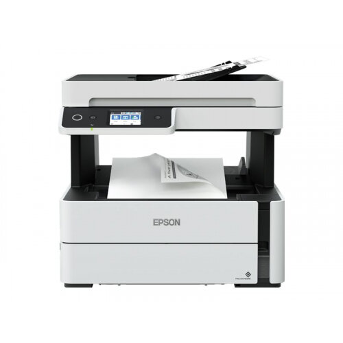 Epson EcoTank ET-M3180 - Multifunction printer - B/W - ink-jet - A4 (210 x 297 mm) (original) - A4/Legal (media) - up to 17 ppm (copying) - up to 39 ppm (printing) - 250 sheets - 33.6 Kbps - USB 2.0, LAN