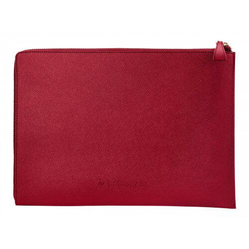 HP Spectre L-Zip - Notebook sleeve - 13.3&uot; - empress red - for Chromebook 11; Chromebook x360; Envy 13; Envy x2; ENVY x360; Spectre 13; Spectre x360; x2