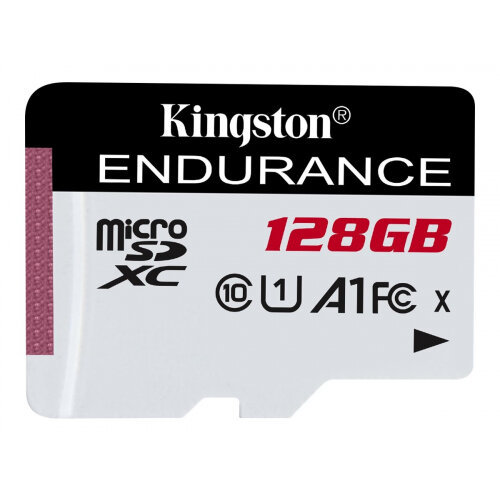 Kingston High Endurance - Flash memory card - 128 GB - A1 / UHS-I U1 / Class10 - microSDXC UHS-I