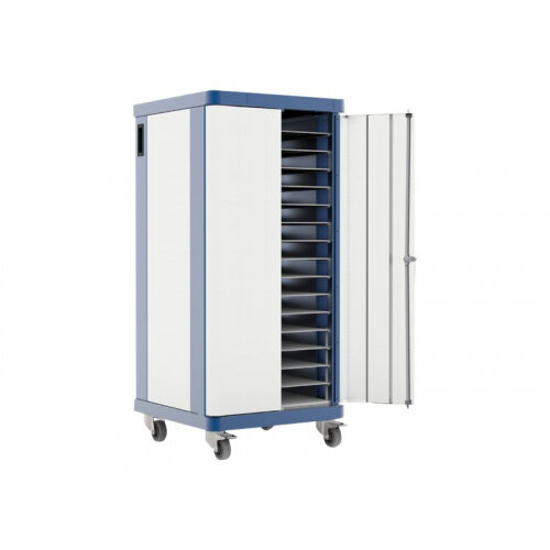 LapSafe ClassBuddy 32 - Cart (charge only) for 32 tablets / notebooks - lockable - steel - blue