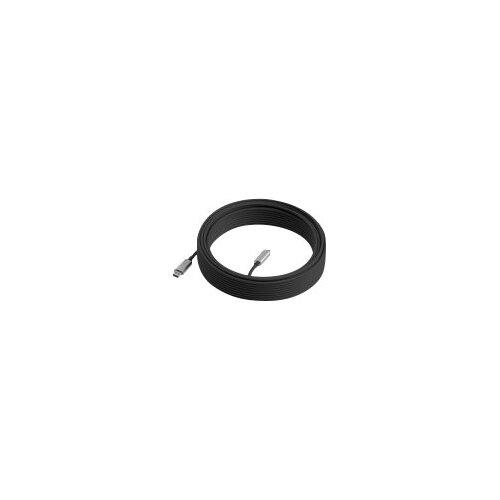Logitech - USB cable - USB Type A (M) to USB-C (M) - USB 3.1 - 10 m - plenum, Active Optical Cable (AOC)