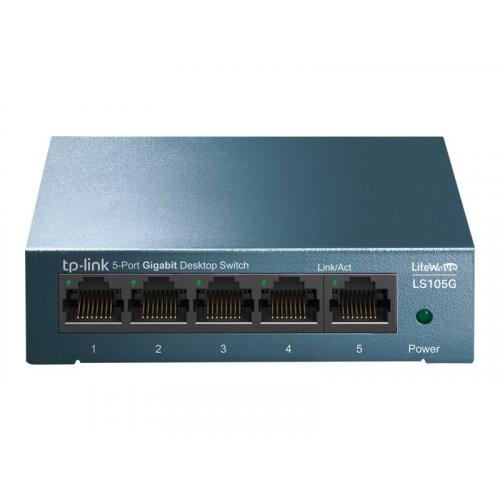 TP-Link LiteWave LS105G - Switch - unmanaged - 5 x 10/100/1000 - desktop - AC 220 V