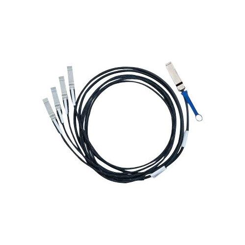 Mellanox Hybrid Passive Copper - Network cable - QSFP+ (M) to SFP+ (M) - 3 m - SFF-8431/SFF-8436 - passive