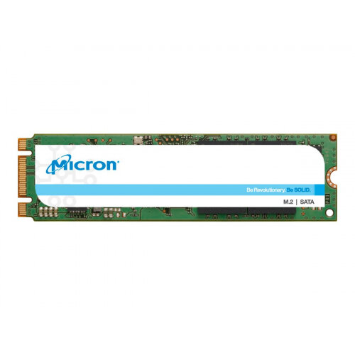 Micron 1300 - Solid state drive - encrypted - 256 GB - internal - M.2 - SATA 6Gb/s - Self-Encrypting Drive (SED), TCG Opal Encryption