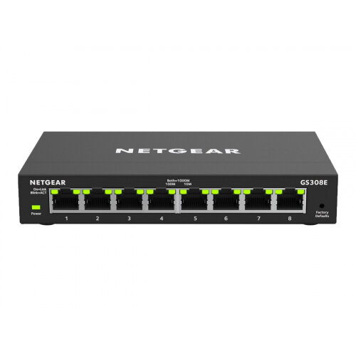 NETGEAR GS308E - Switch - smart - 8 x 10/100/1000
