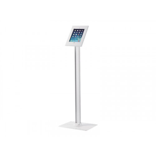 NewStar TABLET-S300WHITE - Stand for tablet - lockable - white - floor-standing - for Apple 9.7-inch iPad; 9.7-inch iPad Pro; iPad; iPad Air 2; iPad with Retina display