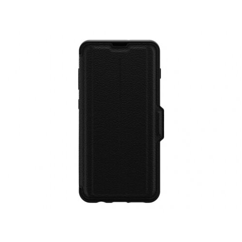 OtterBox Strada Series - Flip cover for mobile phone - leather, polycarbonate - shadow black - for Samsung Galaxy S10+