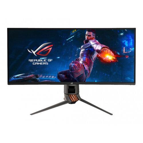 ASUS ROG SWIFT PG349Q - LED monitor - curved - 34.14&uot; - 3440 x 1440 - IPS - 300 cd/m&up2; - 1000:1 - 4 ms - HDMI, DisplayPort - speakers - armor titanium, plasma cooper