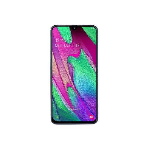 Samsung Galaxy A40 - Smartphone - dual-SIM - 4G LTE - 64 GB - microSDXC slot - GSM - 5.9&uot; - 2340 x 1080 pixels (439 ppi) - Super AMOLED - RAM 4 GB (25 MP front camera) - 2x rear cameras - Android - white