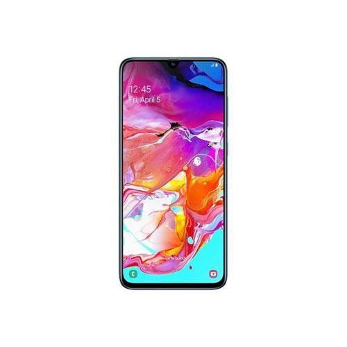 Samsung Galaxy A70 - Smartphone - dual-SIM - 4G LTE - 128 GB - microSDXC slot - GSM - 6.7&uot; - 2400 x 1080 pixels - Super AMOLED - RAM 6 GB (32 MP front camera) - 3x rear cameras - Android - blue