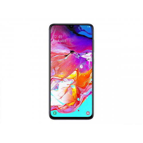 Samsung Galaxy A70 - Smartphone - dual-SIM - 4G LTE - 128 GB - microSDXC slot - GSM - 6.7&uot; - 2400 x 1080 pixels - Super AMOLED - RAM 6 GB (32 MP front camera) - 3x rear cameras - Android - white