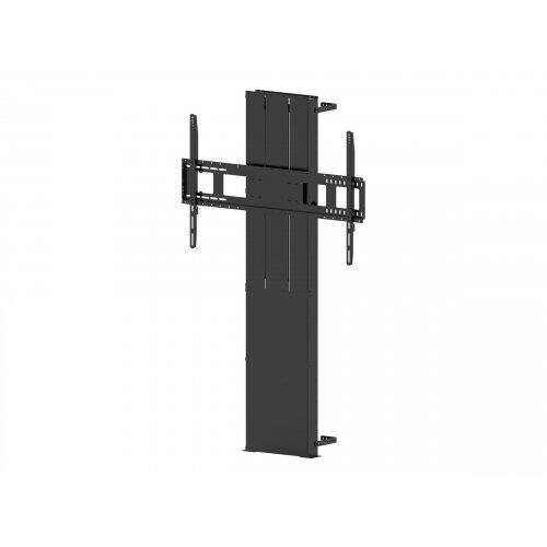 Vision VFM-F40 - Heavy Duty - floor stand for interactive flat panel / LCD display (motorised) - steel - matte black - screen size: 47&uot;-90&uot;