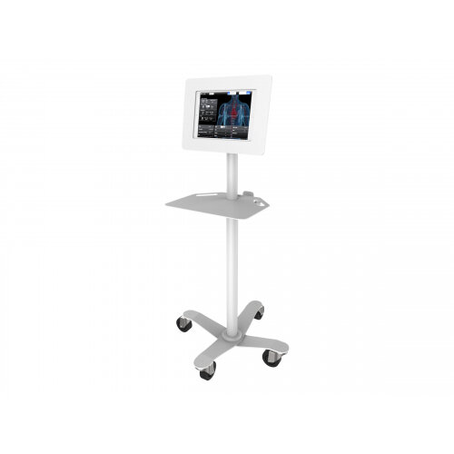 Compulocks Space Rise Freedom iPad 9.7&uot; Floor Stand White - Cart for tablet - metal - white - screen size: 9.7&uot; - for Apple 9.7-inch iPad Pro; iPad; iPad 2; iPad Air; iPad Air 2; iPad with Retina display