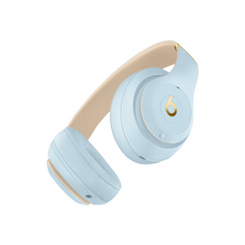 Beats Studio3 Wireless - The Beats Skyline Collection - headphones with mic - full size - Bluetooth - wireless - active noise cancelling - noise isolating - crystal blue - for 10.5-inch iPad Pro; 9.7-inch iPad; 9.7-inch iPad Pro; iPhone 7, 8, X, XR, XS, X