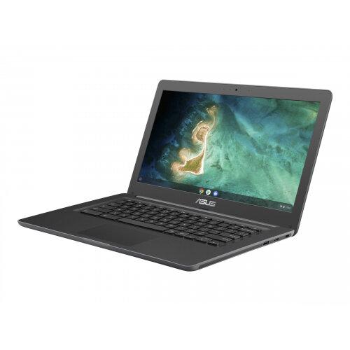 ASUS Chromebook C403NA FQ0034 - Celeron N3350 / 1.1 GHz - Chrome OS - 4 GB RAM - 32 GB eMMC - 14&uot; 1366 x 768 (HD) - HD Graphics 500 - 802.11ac, Bluetooth - textured dark grey (LCD cover), dark grey IMR (top)