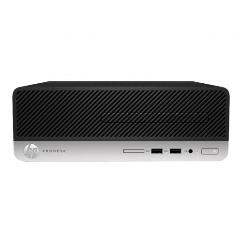 HP ProDesk 400 G6 - SFF - 1 x Core i3 9100 / 3.6 GHz - RAM 8 GB - SSD 256 GB - NVMe - UHD Graphics 630 - GigE - Win 10 Home 64-bit - monitor: none - keyboard: UK