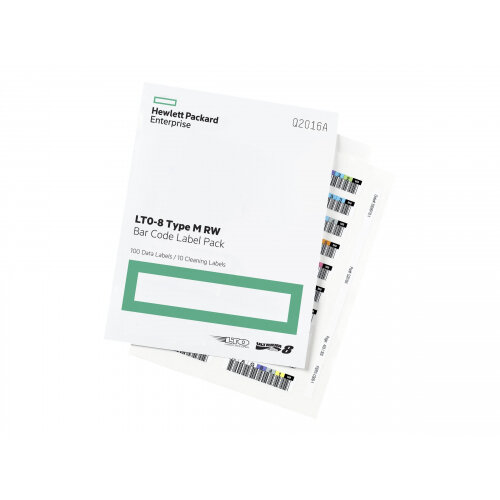 HPE LTO-8 Ultrium RW Bar Code Label Pack - Bar code labels