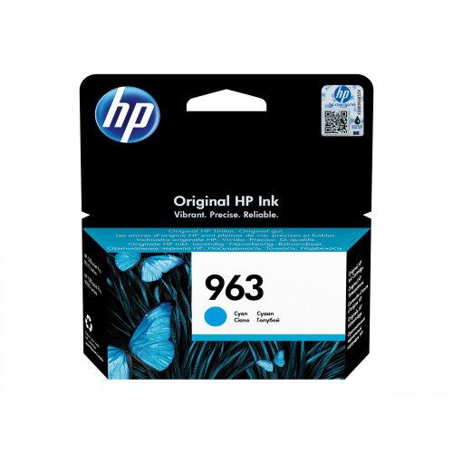 HP 963 - 10.74 ml - cyan - original - ink cartridge - for Officejet Pro 9010, 9012, 9013, 9014, 9015, 9016, 9018, 9019, 9020, 9022, 9023, 9025, 9028