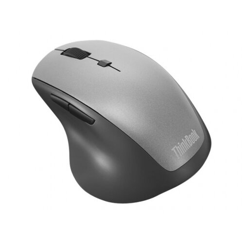 Lenovo ThinkBook Wireless Media - Mouse - ergonomic - right-handed - optical - 6 buttons - wireless - 2.4 GHz - USB wireless receiver - black - for ThinkBook 13; 14; 15; ThinkCentre M720; M75; M90; ThinkPad E15; V14; V530; V530-15