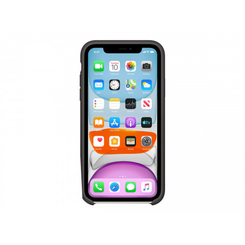 Apple - Back cover for mobile phone - silicone - black - for iPhone 11