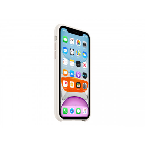 Apple - Back cover for mobile phone - silicone - white - for iPhone 11