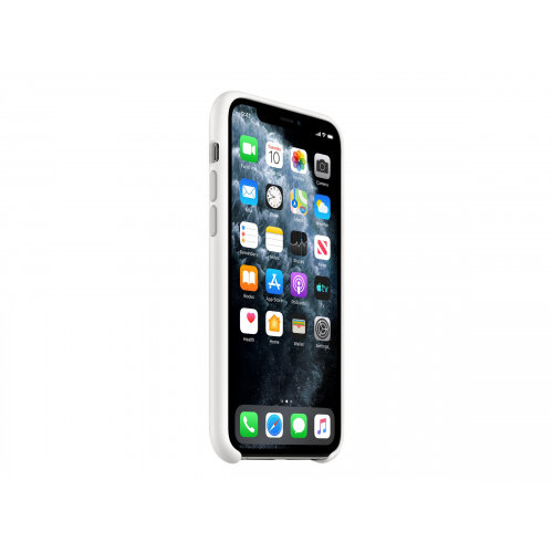 Apple - Back cover for mobile phone - silicone - white - for iPhone 11 Pro
