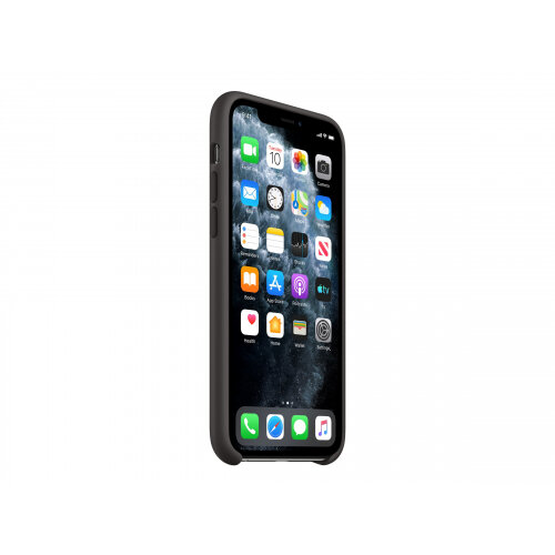 Apple - Back cover for mobile phone - silicone - black - for iPhone 11 Pro