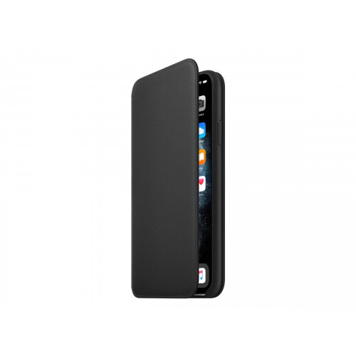 Apple Folio - Flip cover for mobile phone - leather - black - for iPhone 11 Pro Max
