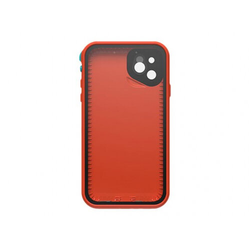 LifeProof Fre - Protective waterproof case for mobile phone - aqua, red orange - for Apple iPhone 11