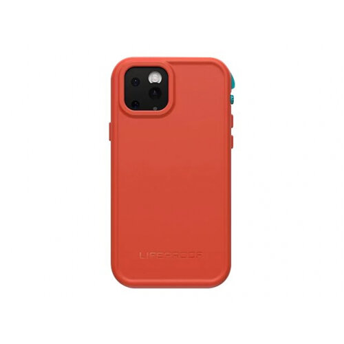 LifeProof Fre - Protective waterproof case for mobile phone - fire sky (aqua/red orange) - for Apple iPhone 11 Pro