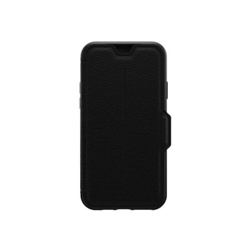 OtterBox Strada Series - Flip cover for mobile phone - leather, polycarbonate - shadow black - for Apple iPhone 11 Pro Max