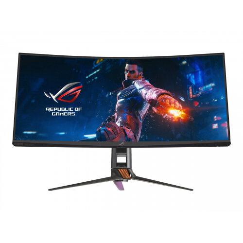 ASUS ROG SWIFT PG35VQ - LED monitor - curved - 35&uot; - 3440 x 1440 UWQHD - VA - 1000 cd/m&up2; - 2500:1 - 4 ms - HDMI, DisplayPort - armor titanium, plasma cooper