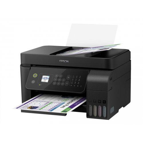Epson EcoTank ET-4700 Unlimited - Multifunction printer - colour - ink-jet - A4/Legal (media) - up to 33 ppm (printing) - 100 sheets - 33.6 Kbps - USB, LAN, Wi-Fi - black