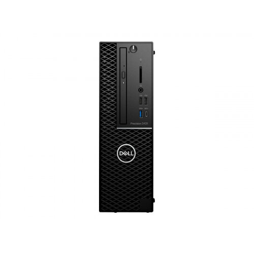 Dell Precision 3431 - SFF - 1 x Core i7 9700 / 3 GHz - RAM 16 GB - SSD 256 GB - DVD-Writer - Quadro P620 - GigE - Win 10 Pro 64-bit - vPro - monitor: none - BTP - with 1 Year Basic Onsite