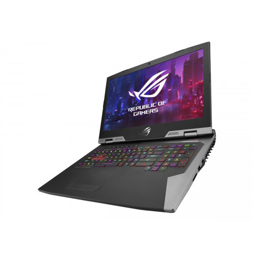ASUS ROG G703GXR EV003T - Core i7 9750H / 2.6 GHz - Win 10 Home 64-bit - 32 GB RAM - 512 GB SSD NVMe + 1 TB Hybrid Drive - 17.3&uot; 1920 x 1080 (Full HD) - GF RTX 2080 - 802.11ac, Bluetooth - black, titanium with hairline, black rubber painting