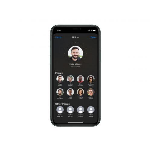 Apple iPhone 11 Pro - Smartphone - dual-SIM - 4G Gigabit Class LTE - 64 GB - GSM - 5.8&uot; - 2436 x 1125 pixels (458 ppi) - Super Retina XDR Display (12 MP front camera) - 3x rear cameras - midnight green